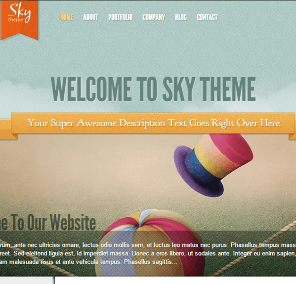 Sky- A unique corporate theme with new trend