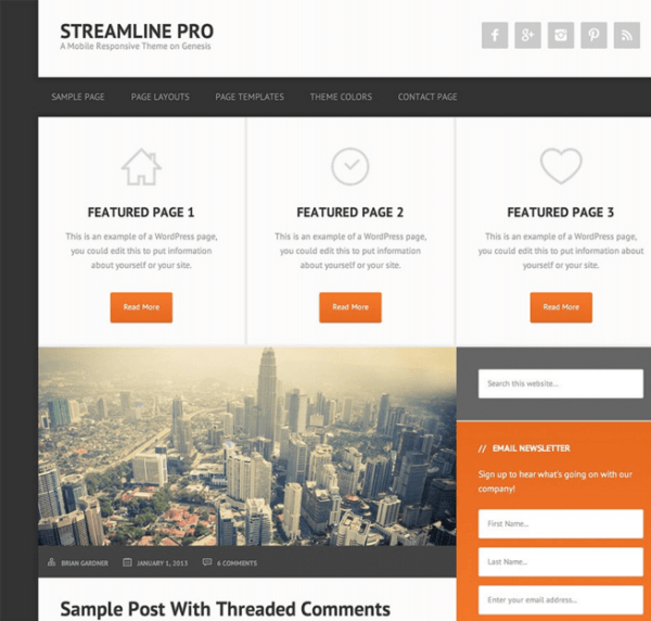 Streamline Pro – Multipurpose WordPress theme