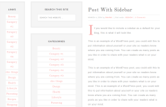 Swank Theme's page with 2 sidebars