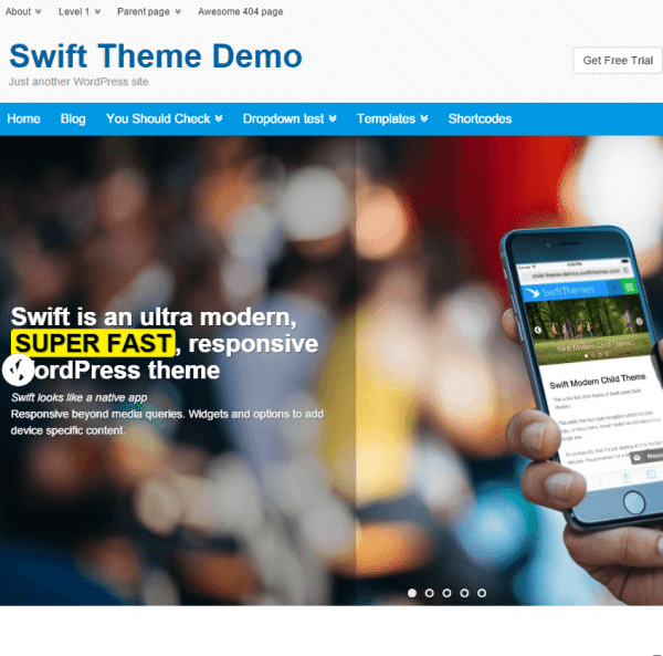 Swift- Fastest & SEO optimised Responsive WordPress theme