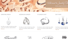 The Jewelry Shop- Home page with subtle luxurious look