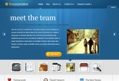TheCorporation- Front page showing awesome slider provided by this theme