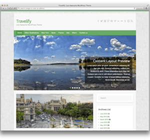 Travelify is a clean, simple, responsive and customizable WordPress