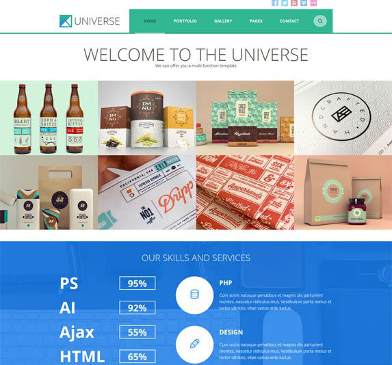 Universe – Multipurpose WordPress theme