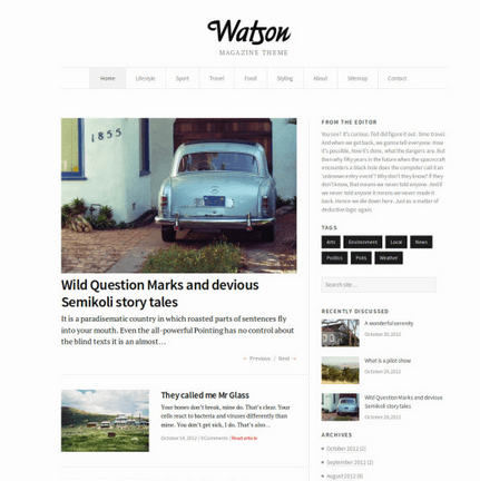 Watson - One of the Best Magazine theme