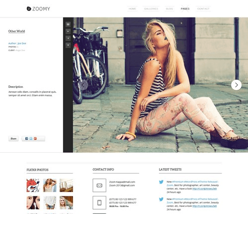 Zoomy – Best Photography WordPress theme