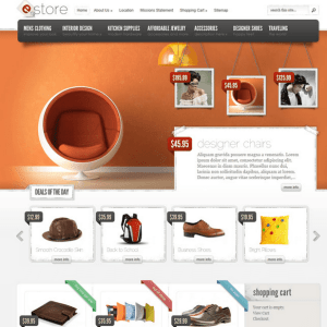 eStore - an Ecommerce theme providing elegant solution.