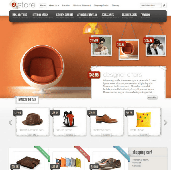 eStore – an Ecommerce theme providing elegant solution.