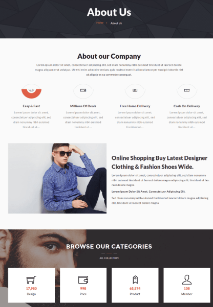 About Us Page of Outlet