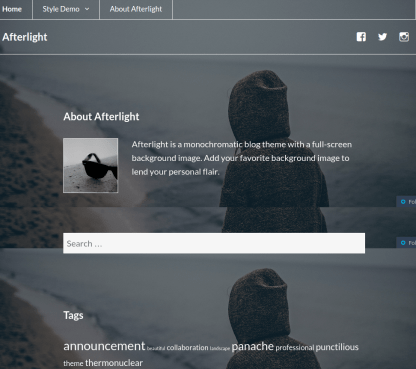 Afterlight-Wordpress-about-page