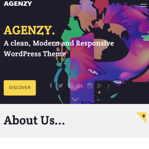 Agenzy – Multipurpose WordPress theme.