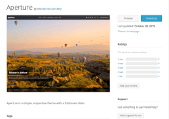 Aperture WordPress Page