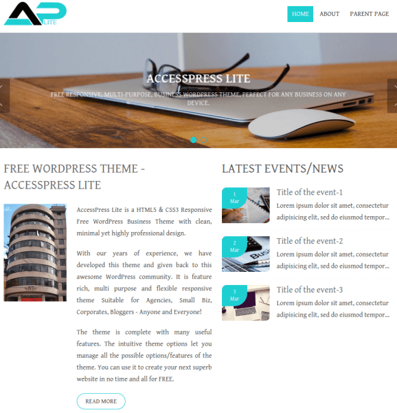 Aplite-WordPress-home