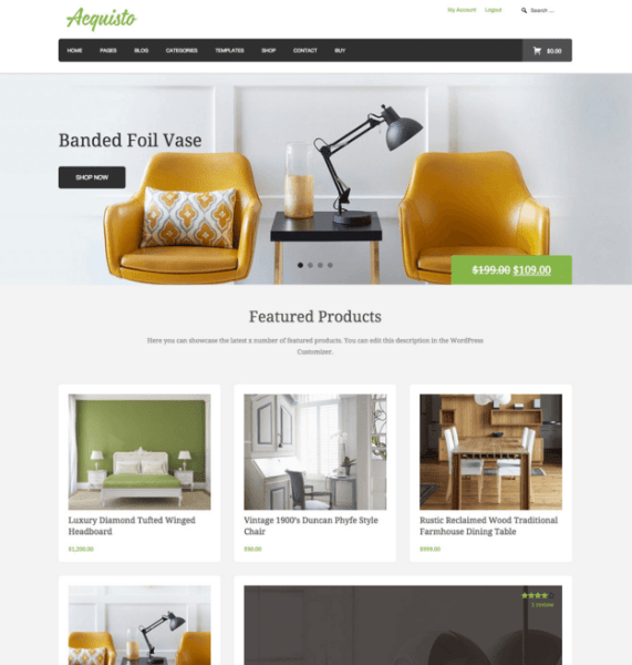Aquisto – WordPress Ecommerce theme
