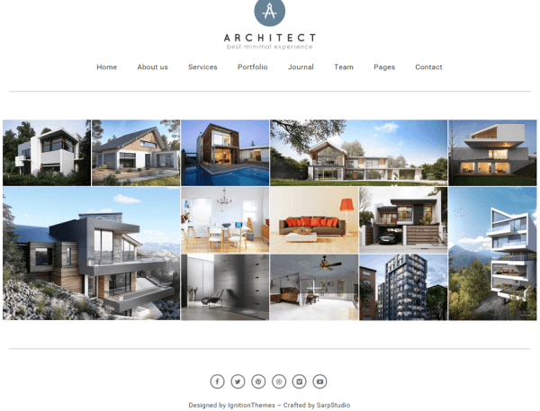 Architect- Front page featured with gallery