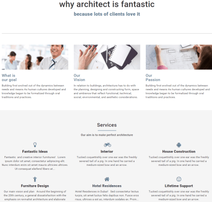 Architect- Services page