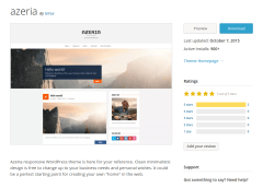 Azeria WordPress Page