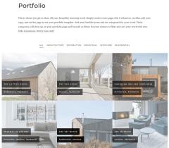 Balanced- Filterable portfolio layout