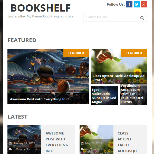 BookShelf Multipurpose WordPress Blog Theme