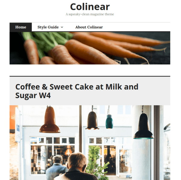 Colinear Wordpress theme for Personal blog