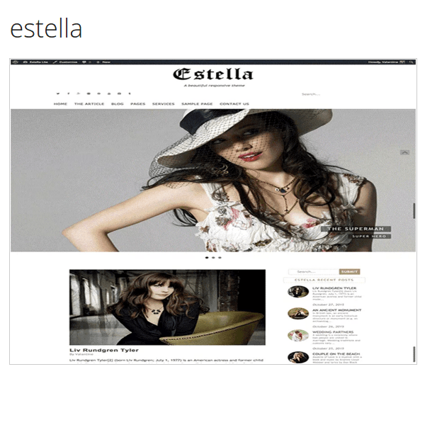 estella a fully responsive and a beautiful multipurpose theme.