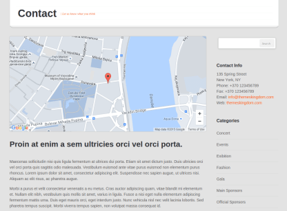 Eventor Contact Page