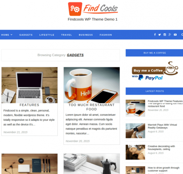 Findcool-WordPress-theme
