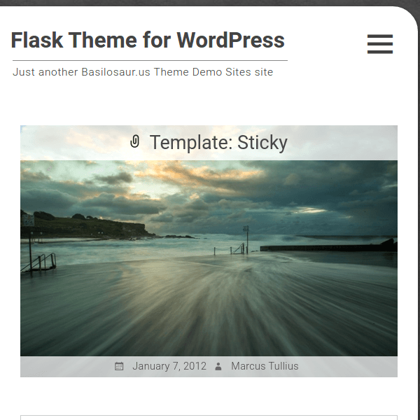 Flask WordPress Theme