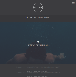 Folio- A WordPress theme for Portfolio and Photography sites