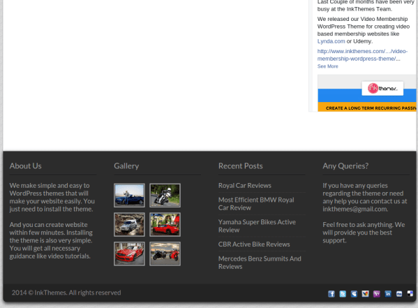 ReThinks WordPress theme for Business marketing and Affiliate