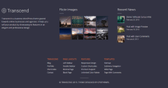 Footer of Transcend theme