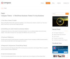 Full width page -Compass