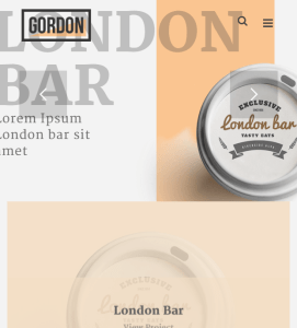 Gordon -Creative Portfolio WordPress theme