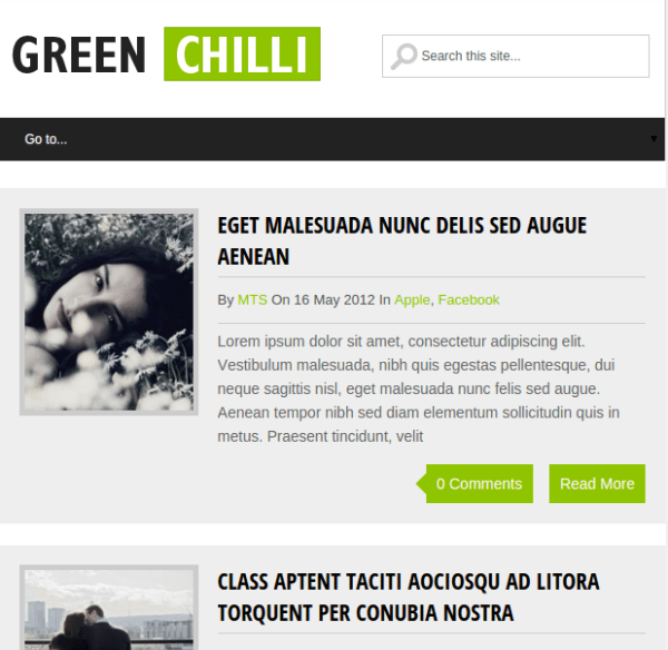 Greenchilli theme