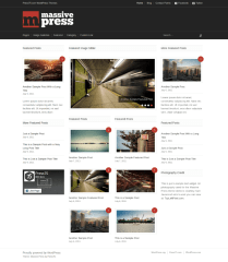 Homepage of Massive Press theme