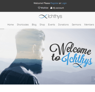 Ichthys- A WordPress theme for church and NGO