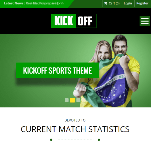 Kickoff- A responsive WordPress theme for Sports club