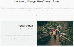 Kreo WP Vintage About Me Page