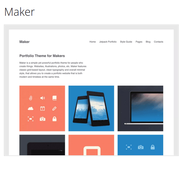 Maker WordPress Theme