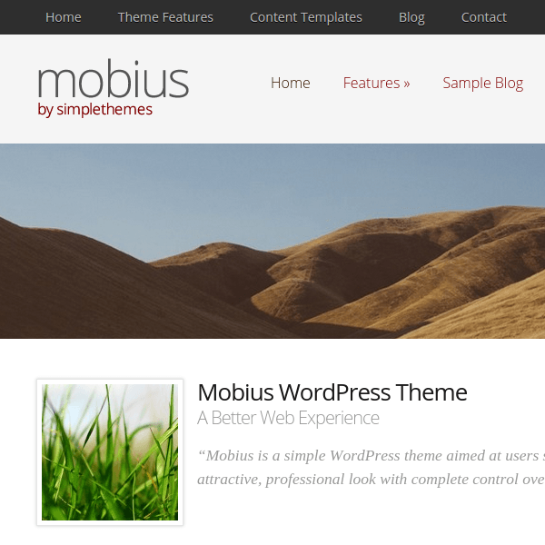 Mobius WordPress Theme