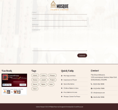 Mosque Footer