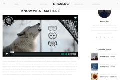 NRGblog Video Page