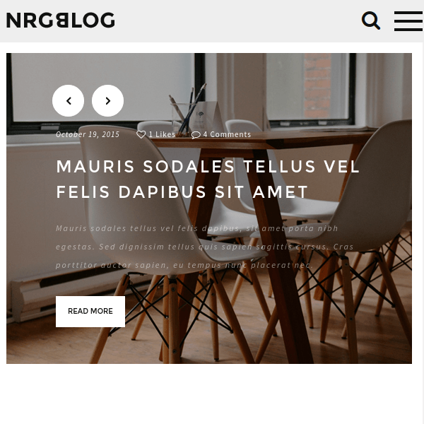 NRGblog – Clean WordPress Blog Theme