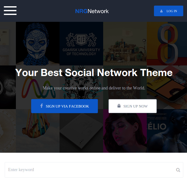 NRGnetwork – Your Powerful Social Network Theme