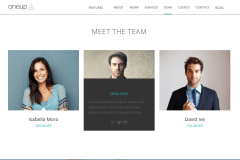 OneUp Team Page