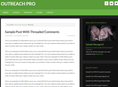 Outreach Pro- Classic blog page layout