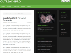 Outreach Pro- Page layout with Content-Sidebar-Sidebar pattern