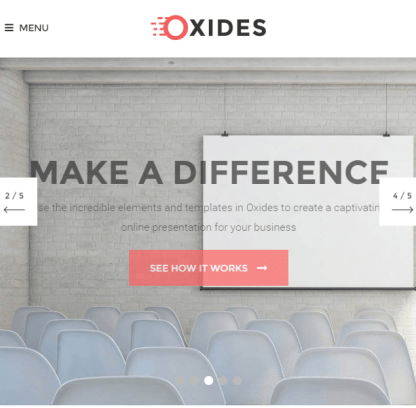 Oxides- A creative studio theme for entrepreneurs