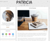 Page with left sidebar of Patricia