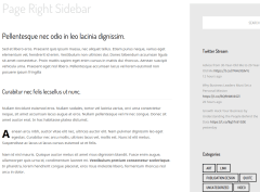 Page with right sidebar
